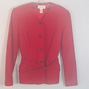 Casual Corner two piece red-orange skirt suit sz 6